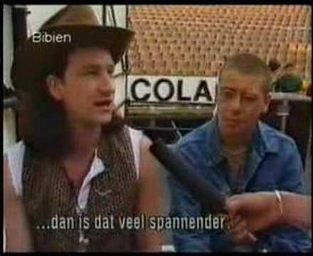 Interview with Adam Clayton & Bono - Rotterdam 1987