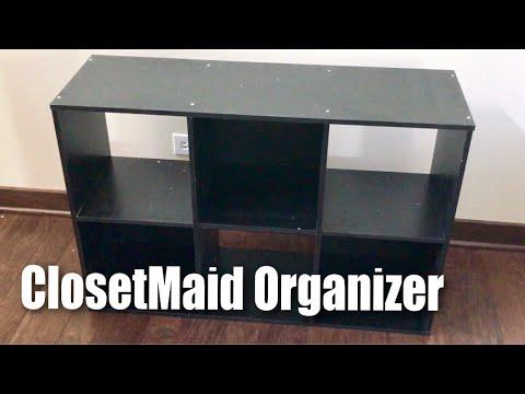ClosetMaid 1574 Cubeicals Black 6 Cube Organizer Setup And Review