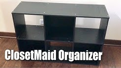 ClosetMaid 1574 Cubeicals Black 6 Cube Organizer setup and review