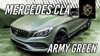 Mercedes CLA Army Green