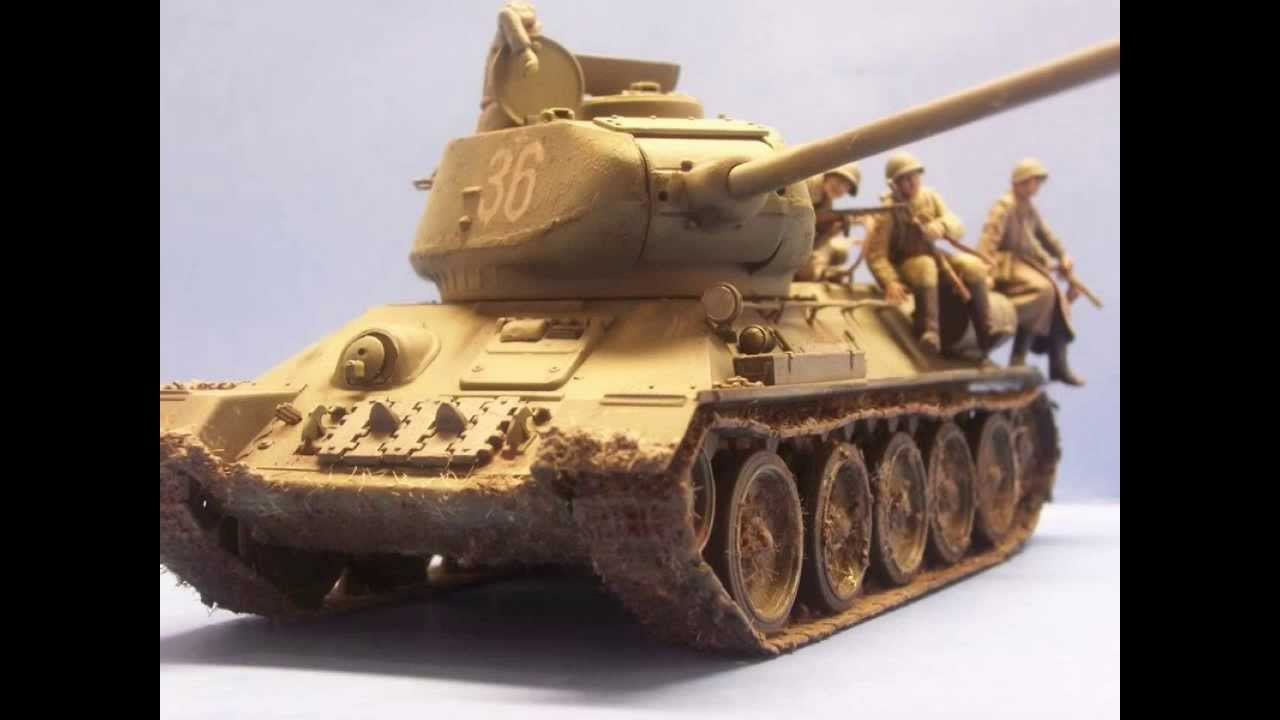 The mighty T-34/85 in Quater scale (1/48) - YouTube