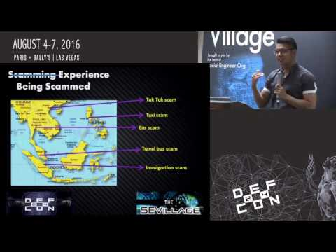 DEF CON 24 - SE Village - Fadli Sidek - Advanced SE Techniques and The Rise of cyber scams