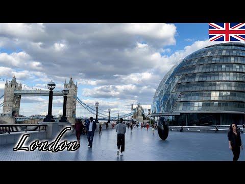 🇬🇧London Post-Lockdown Walk - Tower Bridge | Southwark Borough -【4K 60fps】