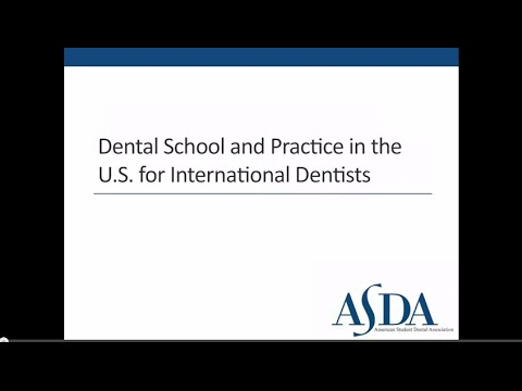 Dental School And Practice In The U.S. For International Dentists
