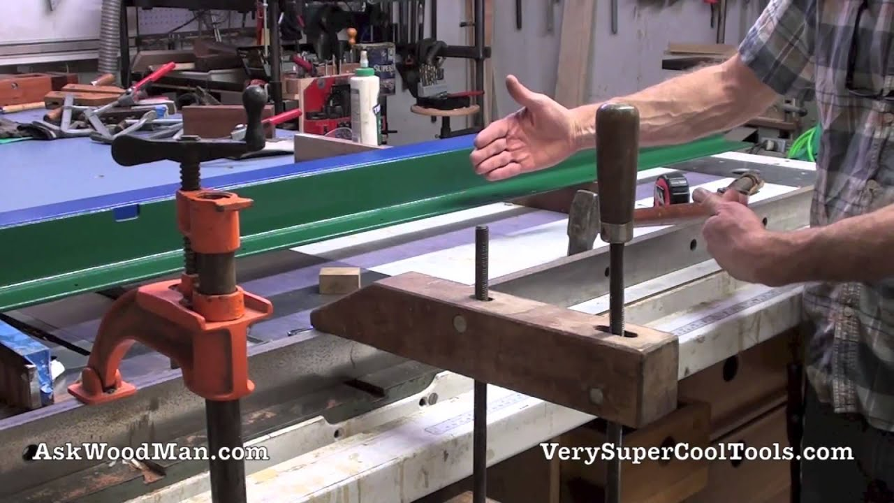 1 of 5 table saw guide rail install diy biesemeyer style guide 1 of 5 table saw guide rail install diy biesemeyer style guide rail series youtube keyboard keysfo Images
