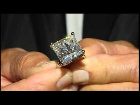 Kim Kardashian 22 carat diamond ring michael hill record YouTube