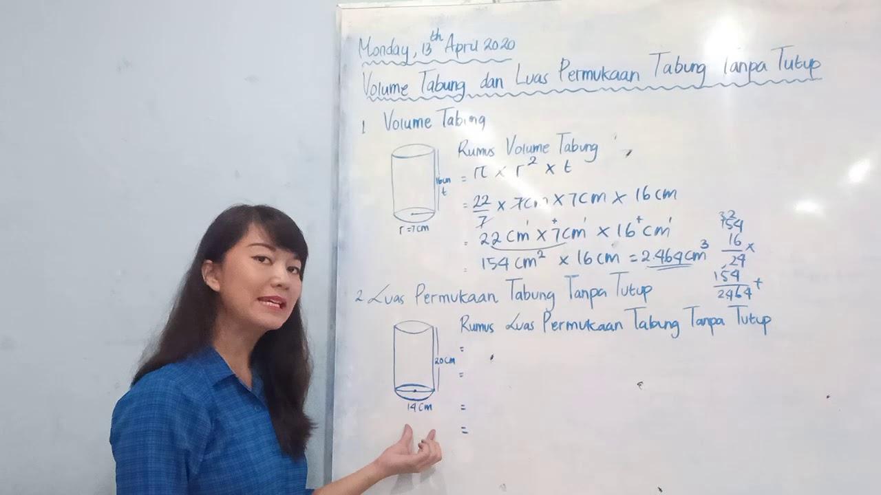 VOLUME TABUNG & LUAS PERMUKAAN TABUNG TANPA TUTUP - YouTube