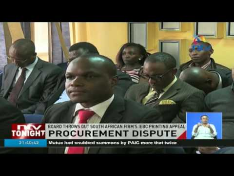 Procurement dispute: Board throws out South African firm's IEBC printing appeal