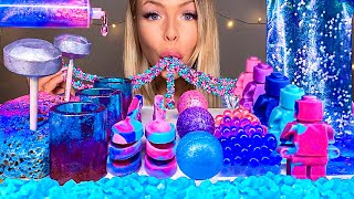 ASMR *GALAXY FOOD* EDIBLE LEGO MAN, EARTH JELLY, SPOON, SHOT GLASSES, BOBA 먹방