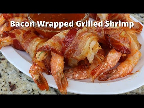 Bacon Wrapped Grilled Shrimp Recipe | Grilled Bacon Wrapped In Shrimp On PK Grill