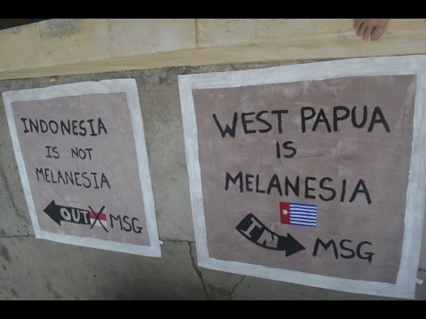 Free West Papua- ULMWP in MSG 2015