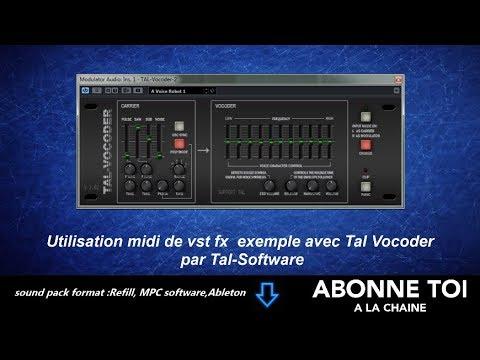 """abc du beatmaking""""Utilisation midi de vst fx  exemple avec Tal Vocoder  par Tal-Software"""""""