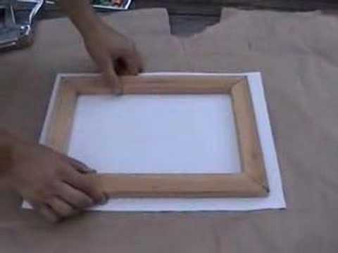 canvas printing and framing part 2 of 2 youtube