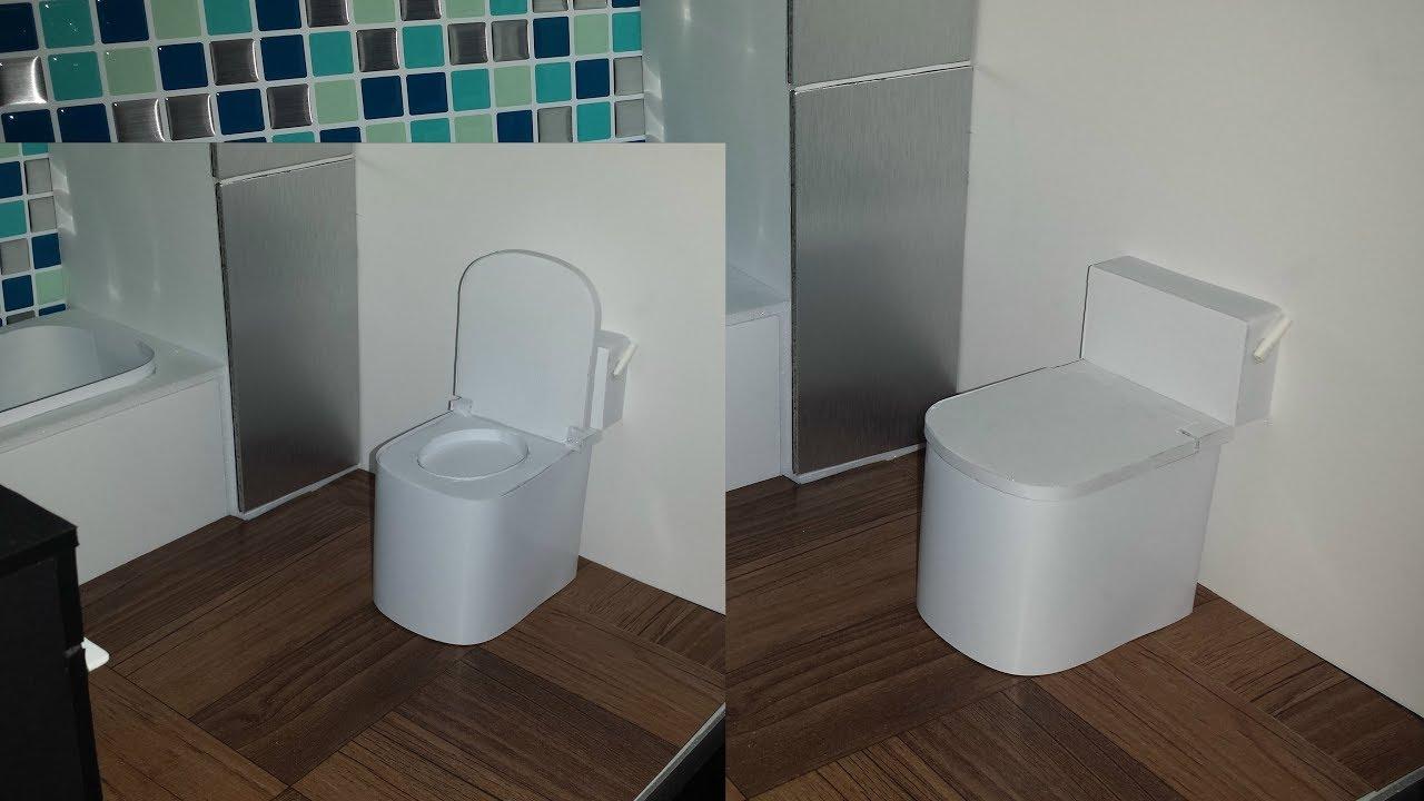 Doll Toilet With Foam Board