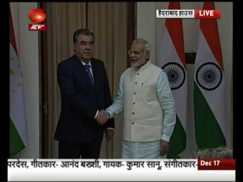 PM Modi meets Tajikistan President Emomali Rahmon
