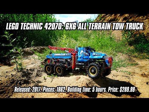 LEGO Technic 42070: 6x6 All Terrain Tow Truck In-depth Review & Speed Build [4K]