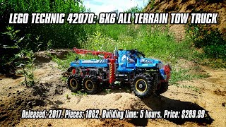 LEGO Technic 42070: 6x6 All Terrain Tow Truck In-depth Review & Speed Build [4K]