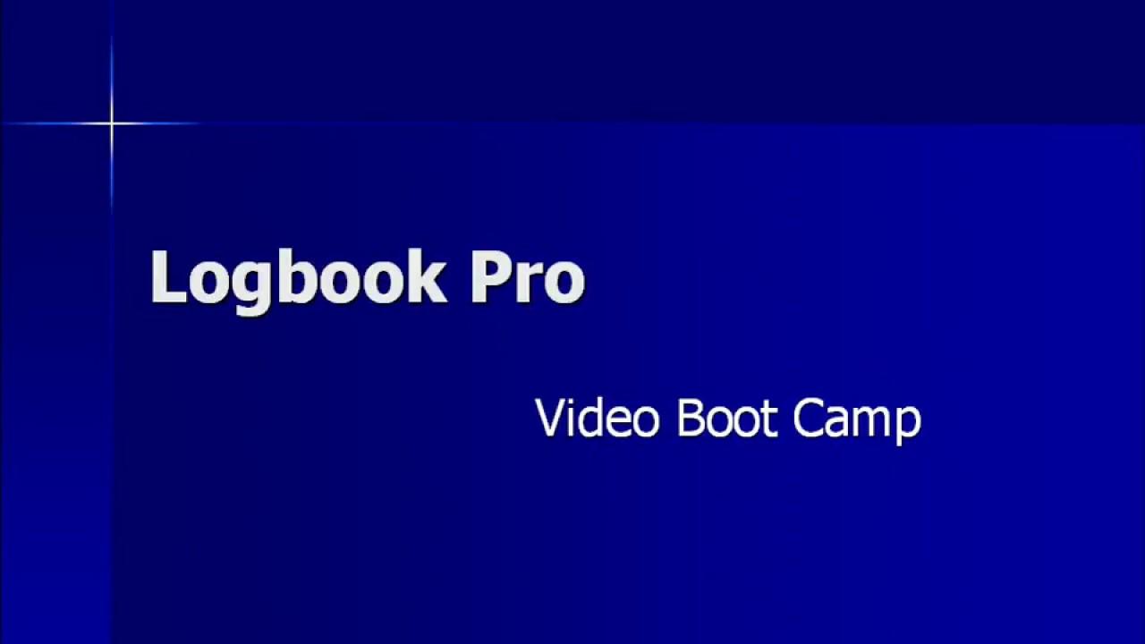 Logbook Pro Desktop Intro