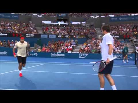 Federer & Mahut v Chardy & Dimitrov - Full Match Men's Doubles Round 2: Brisbane International 2014