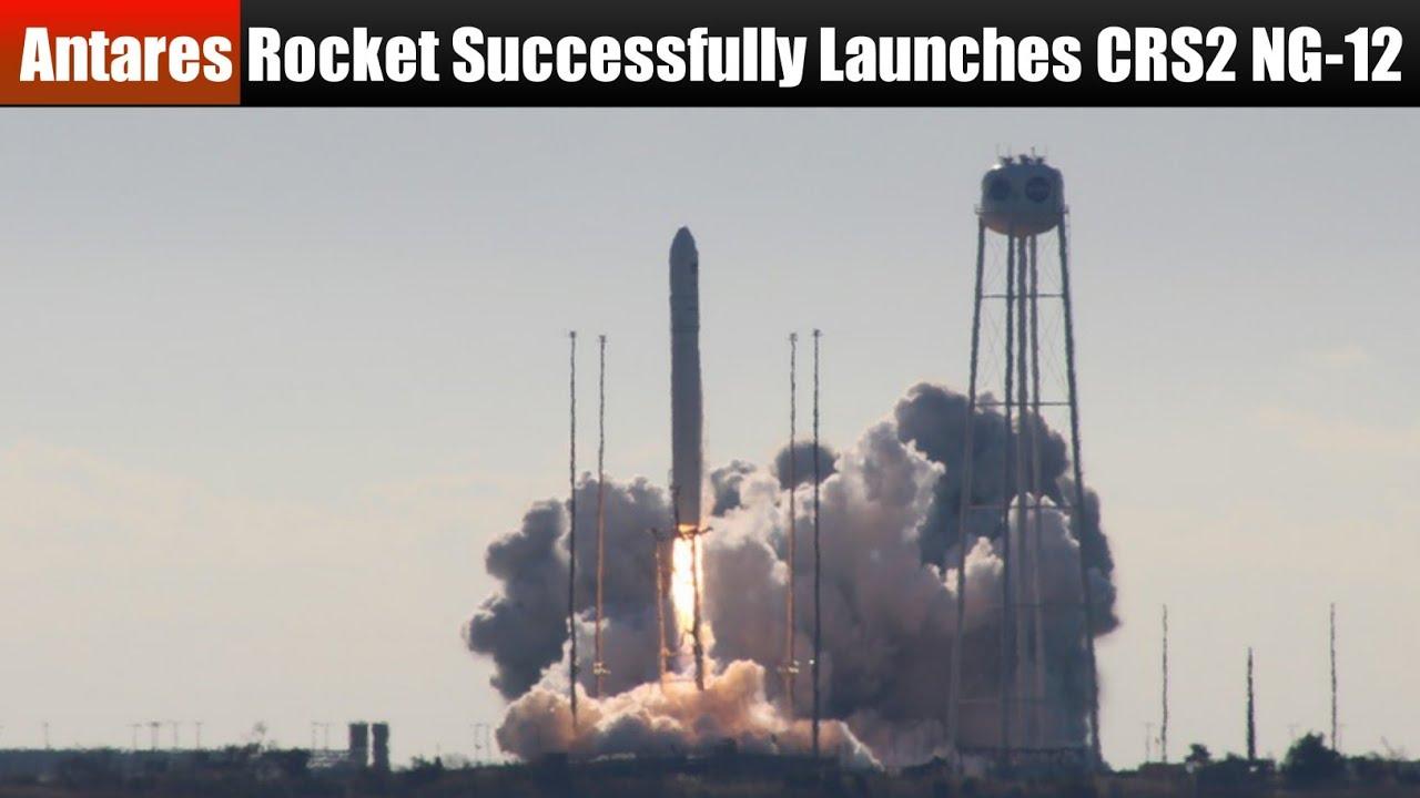 Northrop Grumman Antares Rocket Successfully Launches CRS2 NG-12 (Cygnus) to ISS