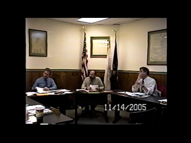Champlain Village Board Meeting  11-14-05