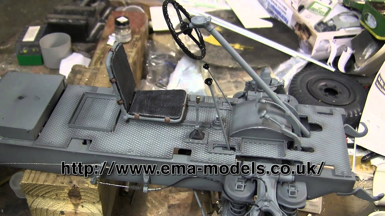 1 6th scale german sdkfz 222 armored car project video 7 driver 39 s position and floor boards. Black Bedroom Furniture Sets. Home Design Ideas