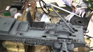 1 6th scale german sdkfz 222 armored car project video 7 driver s position and floor boards