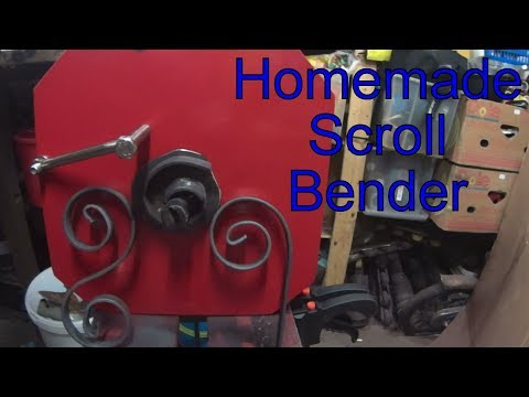 Homemade Scroll bender