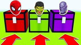 Minecraft :DO NOT CHOOSE THE WRONG CHEST :(SPIDERMAN, HULK THANOS)(Ps3/Xbox360/PS4/XboxOne/PE/MCPE)