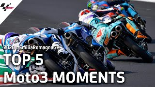 Top 5 Moto3 moments of the #EmiliaRomagnaGP
