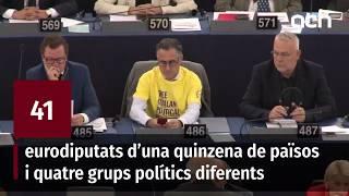 El groc reivindicatiu arriba al Parlament Europeu