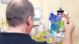 Acrylic Painting Seascape Time Lapse #MooreMethod