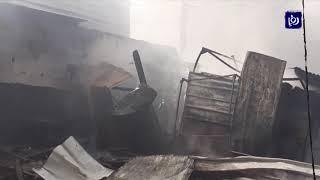 مصرع تسعة أشخاص في حريق ضخم وسط غزة - (5/3/2020)