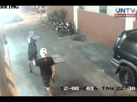 CCTV captures shooting incident in Malabon