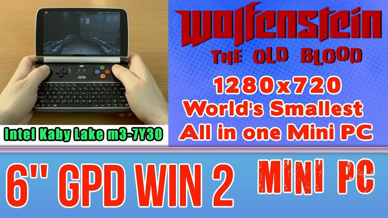GPD WIN 2 Wolfenstein The Old Blood on Handheld Mini PC - 256 GB SSD 8GB  RAM Core m3-7Y30 HD 615