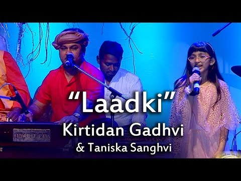 'Laadki' Song Live Performance By Kirtidan Gadhvi Taniska Sanghvi at Gujarati Jalso 2017