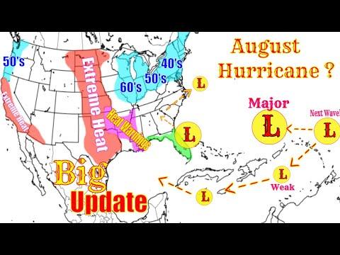 Potential Major Hurricane Early August - Heat Warnings & Tropical Update - The WeatherMan Plus