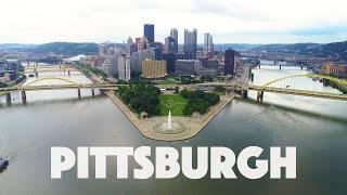 Pittsburgh PA Virtual Run into downtown 4k
