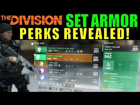 The Division: SET ARMOR Perks Revealed! | New DLC Gear (Patch 1.1)
