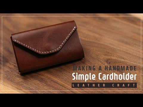 Leather Simple Cardholder / 통통한 카드지갑 / Leather craft PDF / 가죽공예 패턴 / ASMR