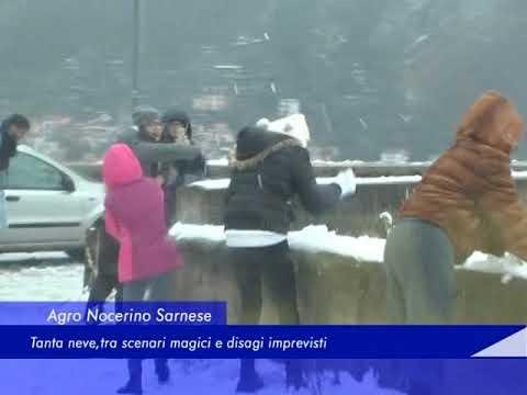 Agro Nocerino Sarnese: Tanta neve, tra scenari magici e disagi imprevisti - 27 Febbraio 2018