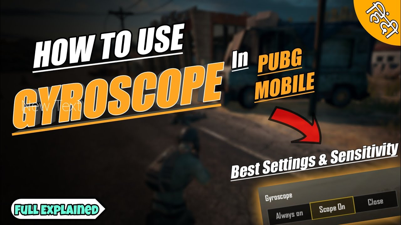 HOW TO USE GYROSCOPE IN PUBG MOBILE | Best Settings & Sensitivity For  Gyroscope in Pubg Mobile