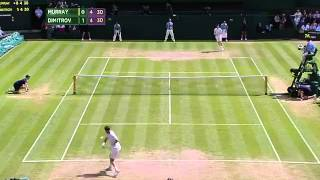Dimitrov and Murray duke out monster point - Wimbledon 2014
