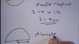 How to find the CIRCUMFERENCE of a circle.wmv