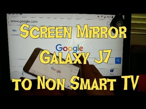 Galaxy J7/J7 Prime: How to Screen Mirror to TV | Play Games, Videos, Photos, Presentations, etc