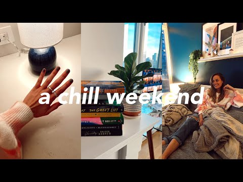 chill weekend | recent book reviews, cozy night ritual, & self-care sunday routine
