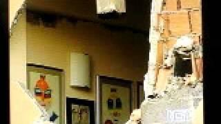 イタリア地震、イタリアのテレビRAI1でのニュースの様子