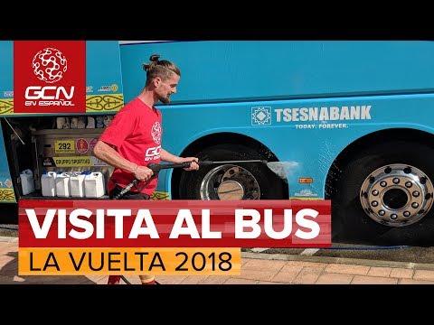 Visita al Bus del Astana Pro Team | Vuelta a España 2018