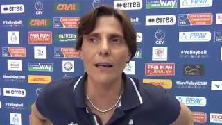 29-04-2018: #EuroVolleyU20M - Monica Cresta commenta la qualificazione agli Europei U20M