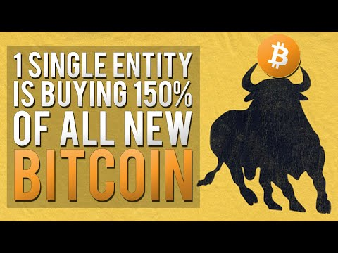 1 Single Entity Is Buying 150% of ALL New BITCOIN!